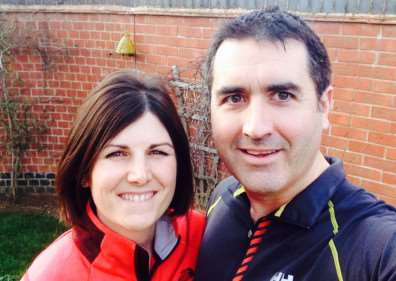Dr Leon Roberts and his wife Amie who will be running the Lincoln 10km in aid of EMICS. EMN-150903-133808001