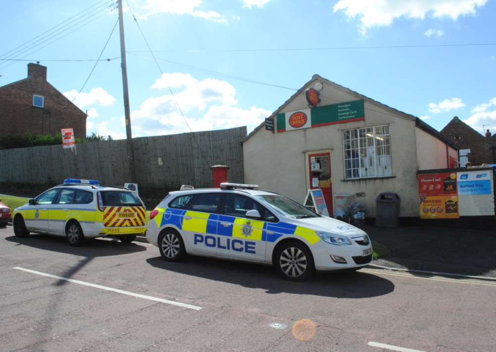 Attempted robbery at Colsterworth Post Office, August 31, 2012.