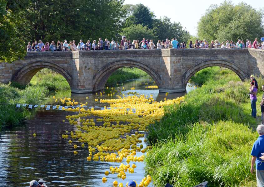 The 2015 Deeping Duck Race, organised by Deeping Lions.''Photo: David Pearson EMN-150709-124446001