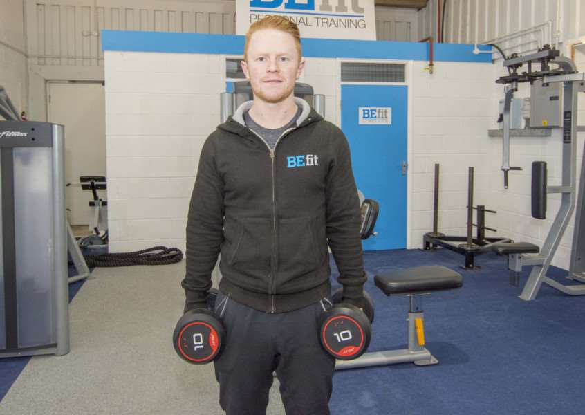Ben Easson, owner of the BEfit Gymnasium in Oakham. By Lee Hellwing.