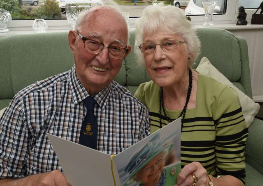 Bourne diamond wedding couple Peter (81) and Gladys (83) Rowland EMN-151017-194829009