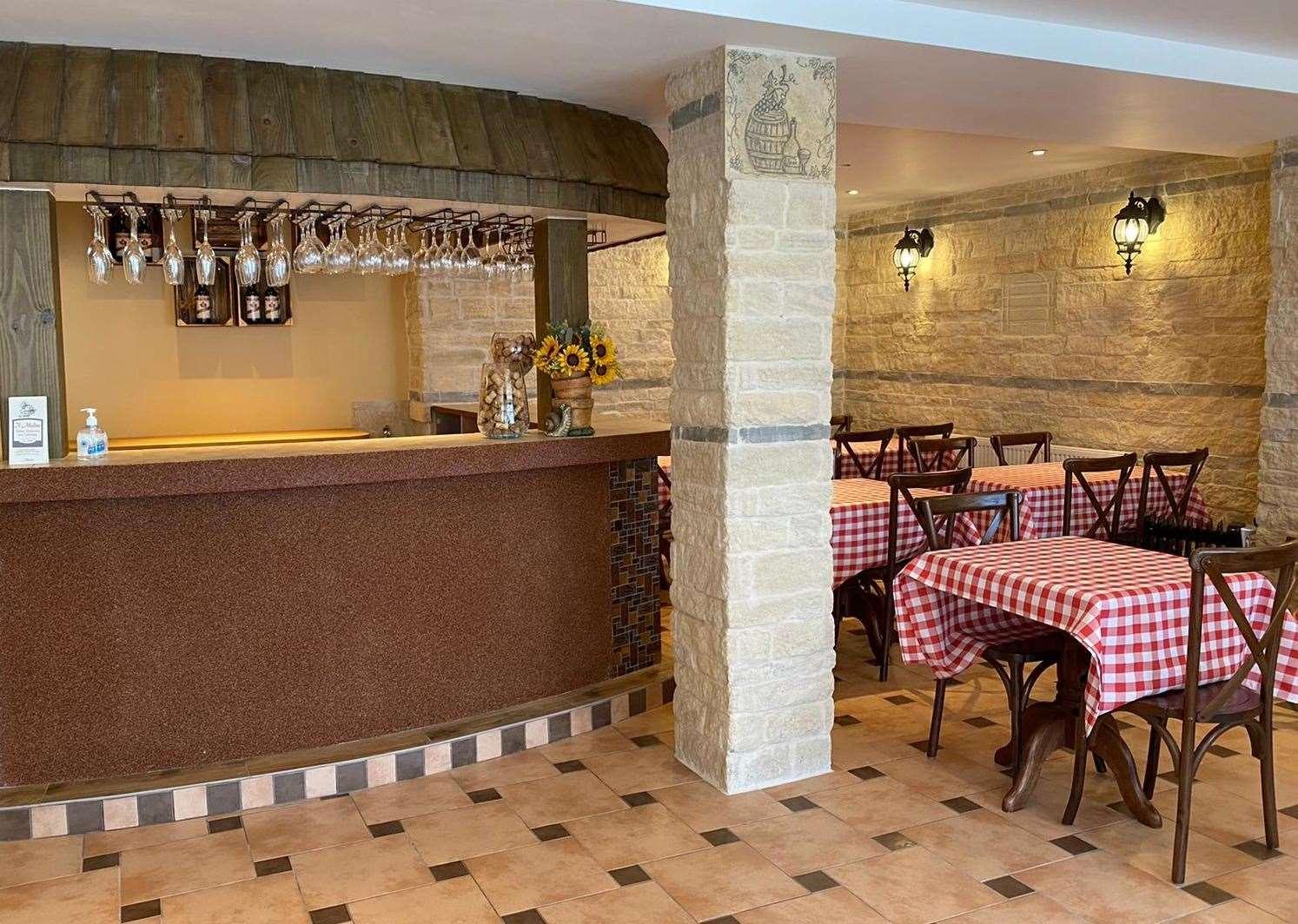 Il ristorante potrà ospitare fino a 60 persone quando riaprirà a giugno.  Foto: Il Molino
