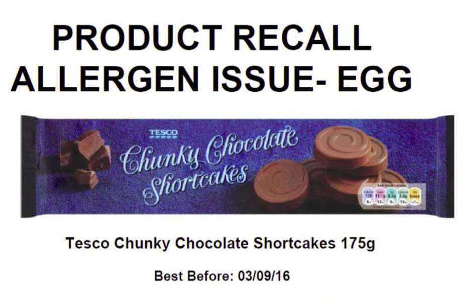 Tesco issue product recall