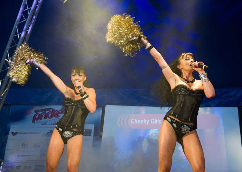 The Cheeky Girls scooped the number two spot - their highest chart appearance for some time. Shutterstock