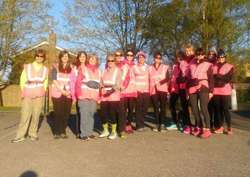 Westside Gym members training in advance of the MoonWalk, in London, on May 14, 2016 EMN-160426-154822001
