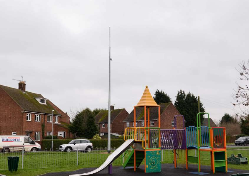 The new CCTV pole in Princess Avenue, near Royce Recreation Ground, Oakham. EMN-160118-152237001