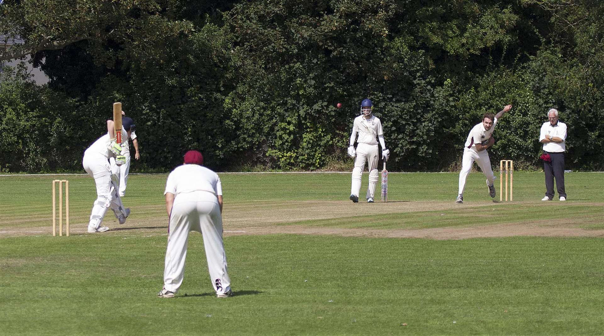 Cricket Action. Long Sutton v Billingborough.. (3666403)