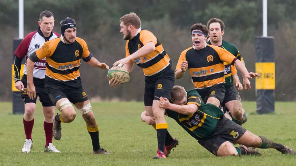 Action from Oakham's win over Vipers. Photo: Andy Balmford. EMN-160126-094455001