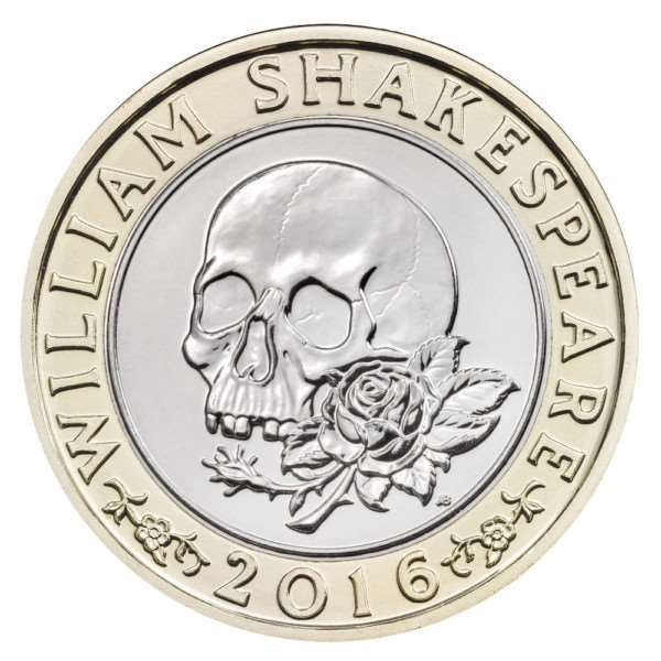 The histories, comedies and tragedies of William Shakespeare are each represented on �2 coins marking 400 years of the Bard's literary legacy.