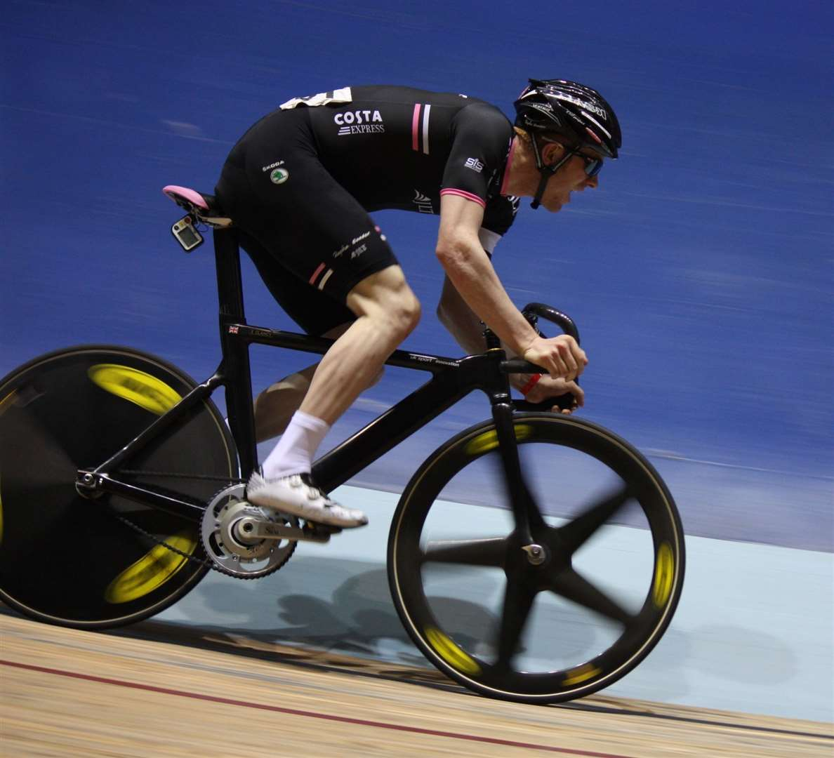 Ed Clancy in action on the track