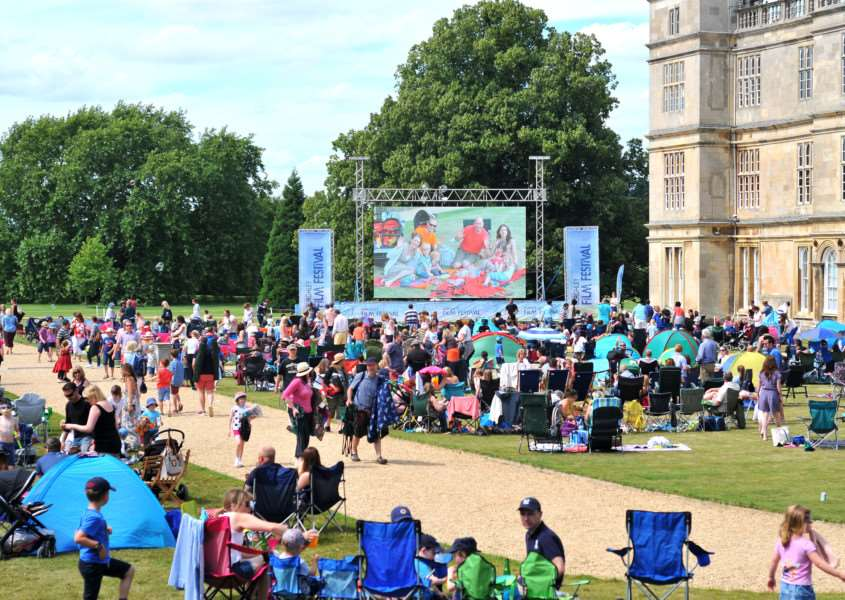 Crowds enjoy Burghley Film Festival 2015. Photo: Lee Hellwing. EMN-150608-114753001