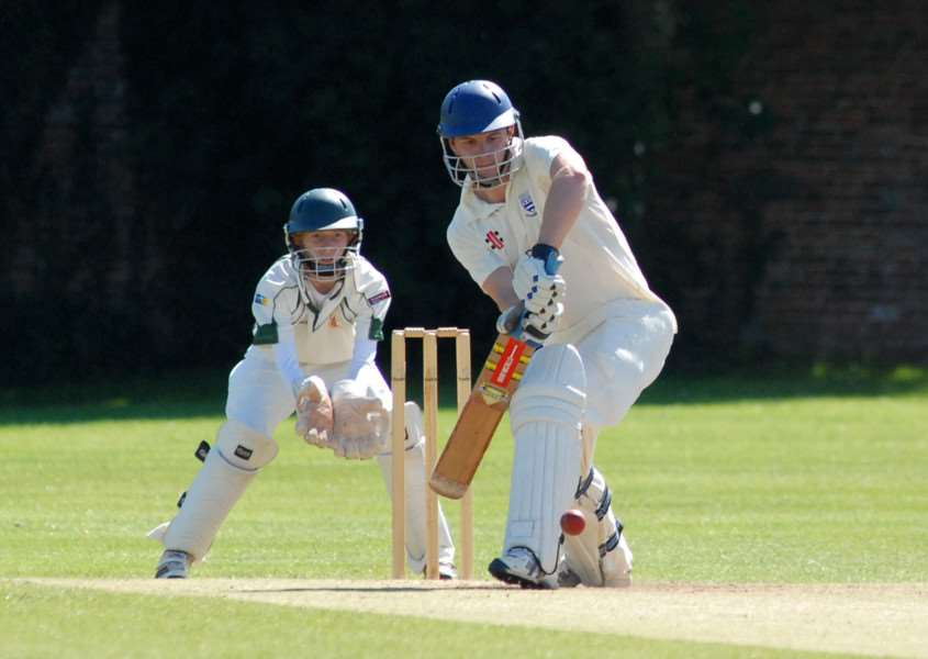 Bourne CC 2nds v Woodhall Spa CC 2nds. Tom Bentley batting for Bourne.'Photo: MSMP030813-014ow ENGEMN00220130308174506