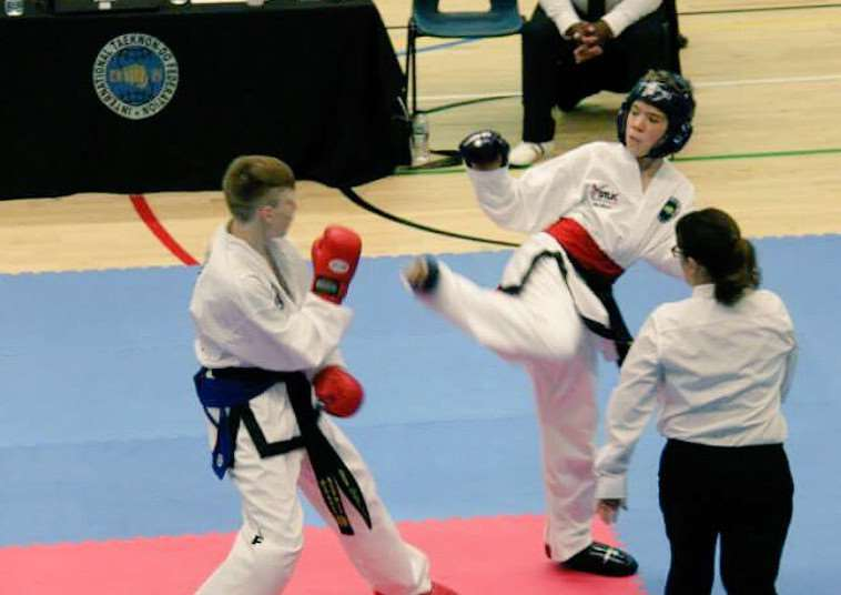 Action from Stamford and Oakham Taekwondo fighters at the World Championships EMN-150715-145655001