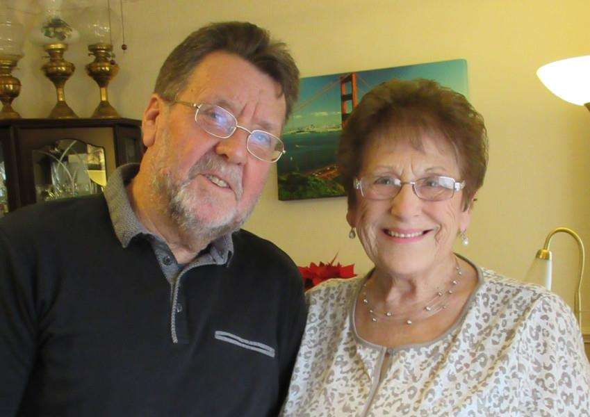 Golden wedding couple Janet and Pop Baxter from Bourne