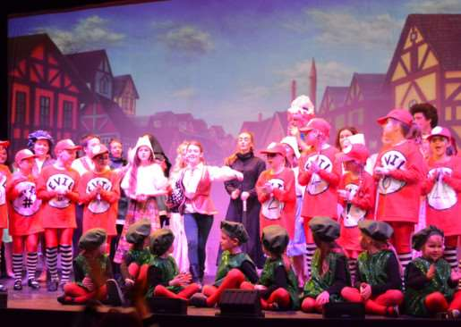 Hurst Children's Theatre Group, from Bourne, perform Jack and the Beanstalk. EMN-150126-144551001