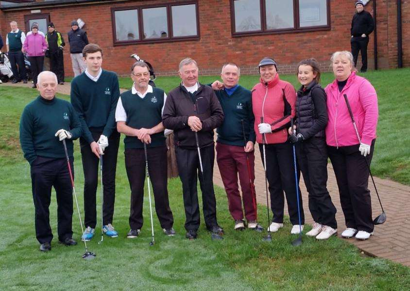 New Year's Day at Greetham Valley heralded the change of captains as symbolised by the traditional Drive-In with outgoing captains Fred Aspin (Club), Cathy Steele (Ladies), Peter Wood (Seniors) and Ellie Haughton (Juniors) being replaced by Micky Fish, Susie Ellis, Mel Clarke and Tom Haynes. EMN-160501-095954001