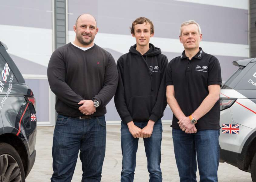 Dan Venables attended the Jaguar Land Rover Academy of Sport workshop, mentored by Land Rover Ambassador David Flatman and Sportsaid Patron Bryan Steel EMN-150212-102008001