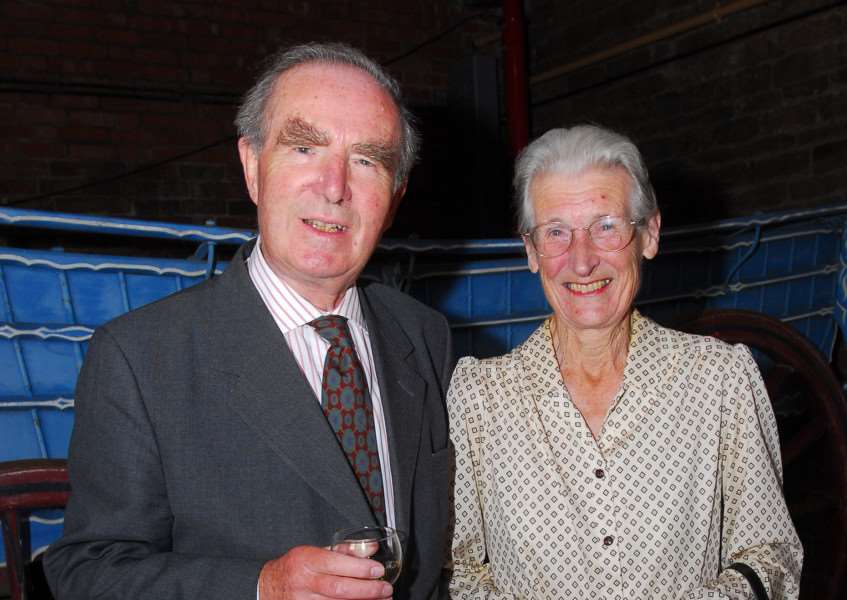 The late Sir Clifford Boulton, pictured with Lady Anne Boulton in 2009.