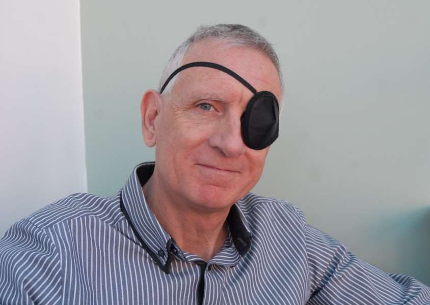 Terry Whitehead who had a detached retina which was picked up at SpecSavers in Bourne