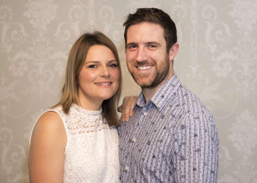 Jenny Collier and Alex Marshall have won a �25,000 wedding from UKbrides website'Photo: Lee Hellwing