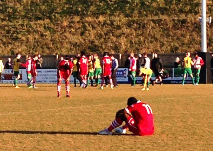 Stamford AFC lose their must win match against Marine. Photo: John Evely
