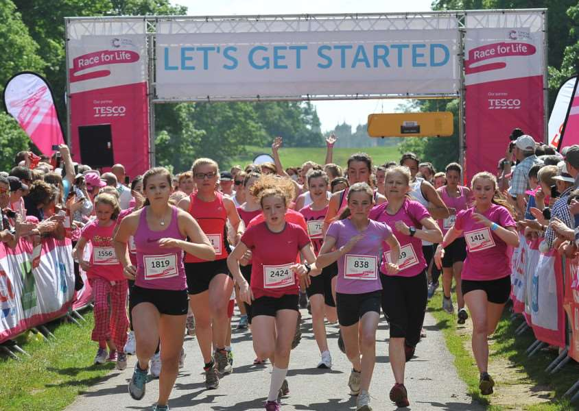 A previous Race for Life event at Burghley House