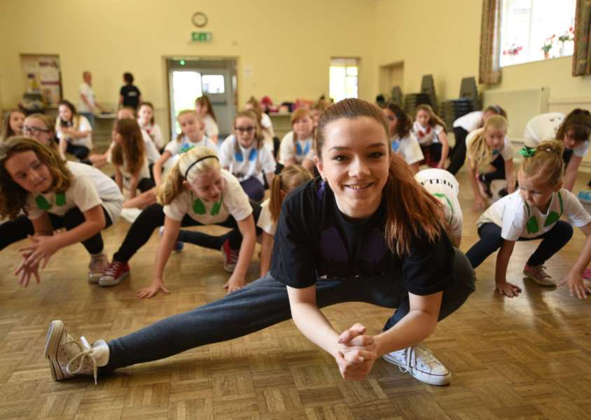 Lauren Willis (17) at Borne Abbey Church hall with her dance class EMN-150628-201942009