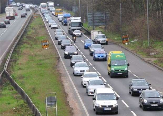 Drivers are facing delays on the A1 (pictured) and A47