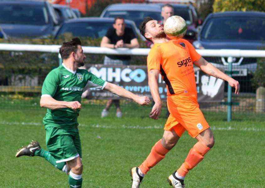 Joe Papworth in action for Blackstones at Olney on Saturday.