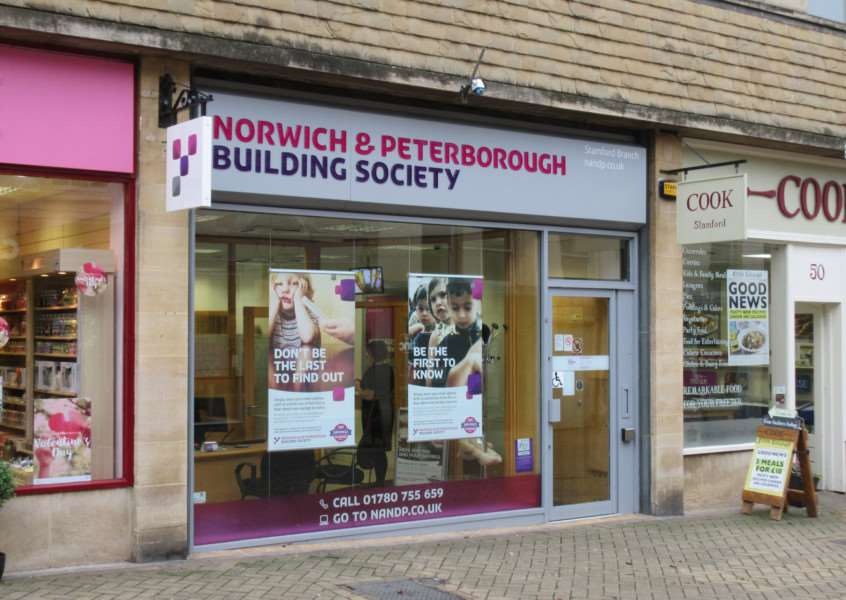 Stamford's Norwich and Peterborough Building Society branch