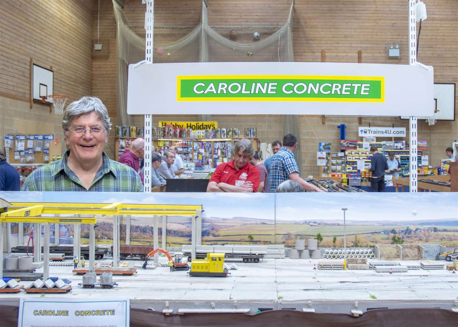 Graham Morfoot who won the Best Layout award with Caroline Concrete based on Tallington Photo: Lee Hellwing