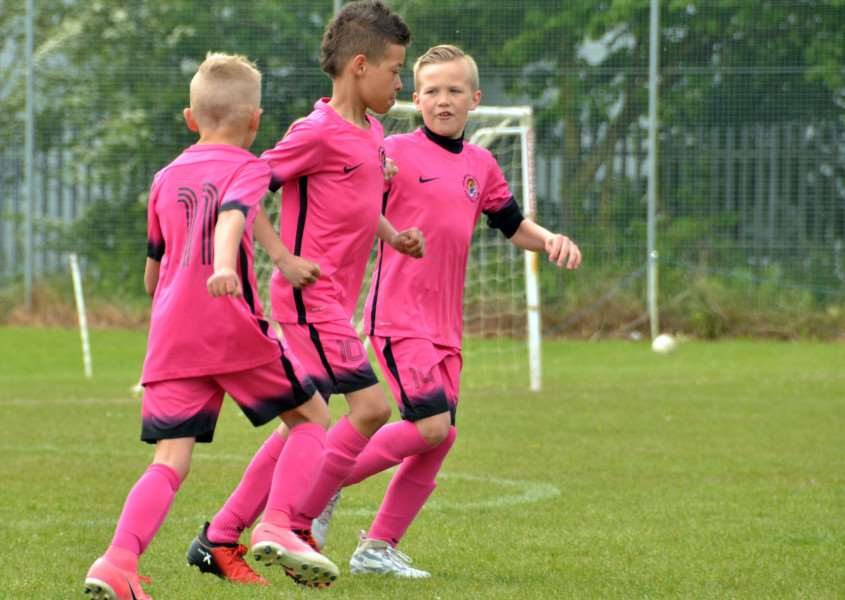 Celebrations for Holbeach under-9s