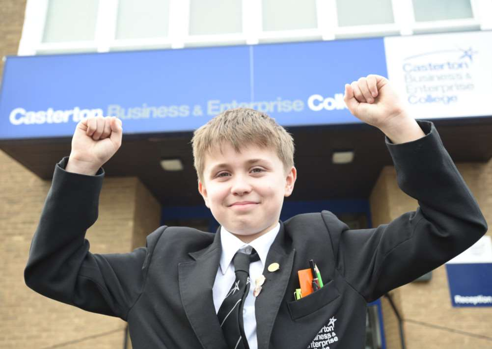 James Dewell (12) who hasraised cash for Sue Ryder appeal EMN-150121-172736009