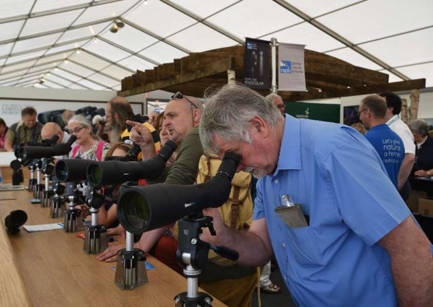 Visitors at last year's Birdfair event 'PHOTO: David Lowndes