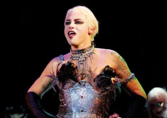Rob as Dr Frank-n-Furter in The Rocky Horror Show. PHOTO: Isabel Schatz