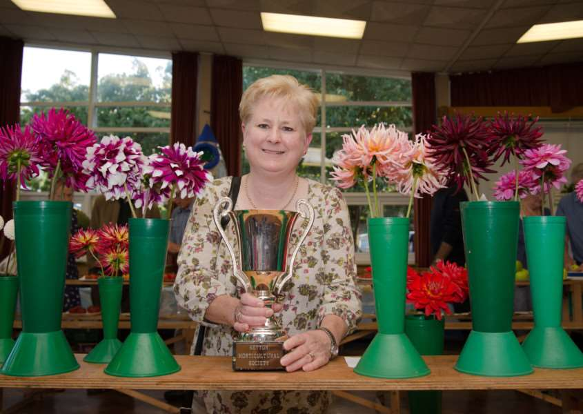 Ketton Produce Show, September 6, 2015. Judy Measures won most points in the Dahlias category. Photo: Alan Walters EMN-150709-143859001