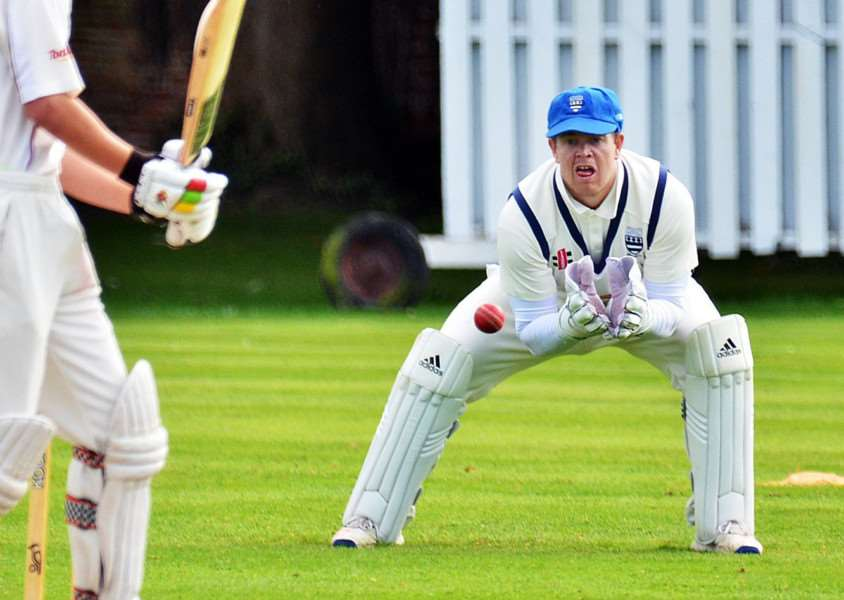 Carl Wilson keeps wicket for Bourne on Saturday