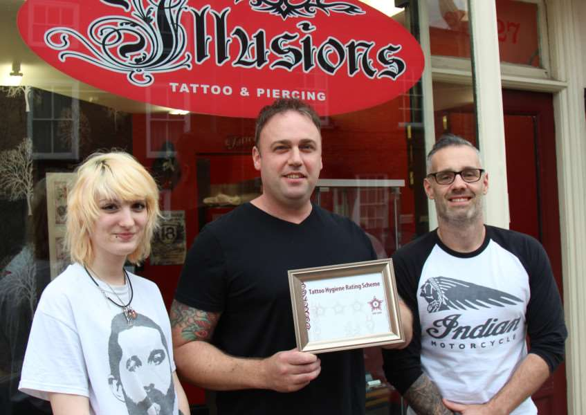All the tattoo studios in Bourne have received good ratings from South Kesteven District Council as part of its new hygiene rating scheme EMN-150924-102509001