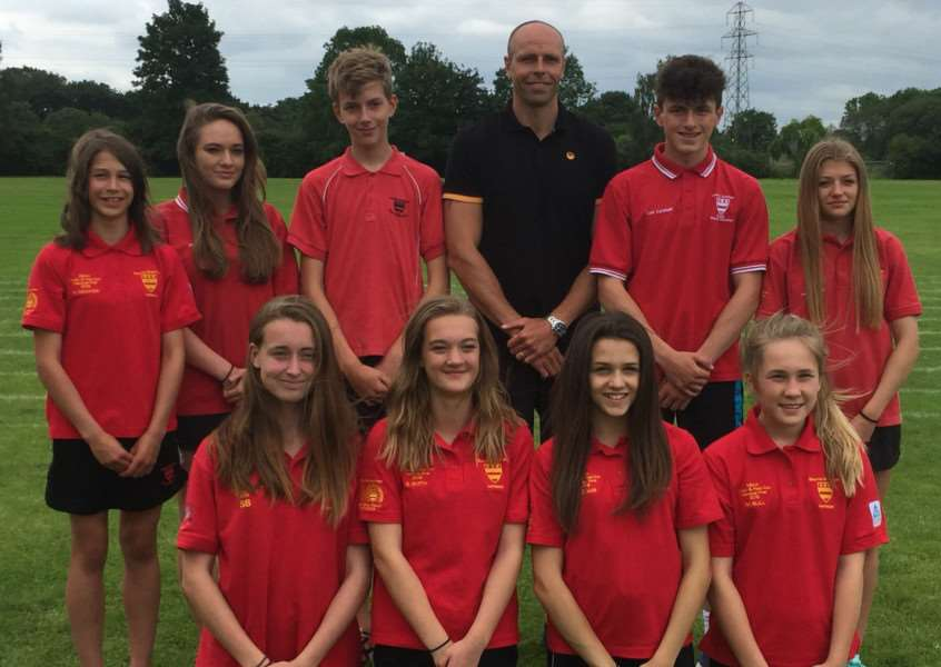 GUEST TEACHER: High-level sports students at Bourne Grammar School had a workshop with 2006 Commonwealth Games decathlon champion Dean Macey.
