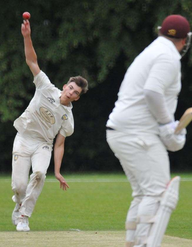 Jed Humphries bowling for Billingborough on Saturday. (13567650)