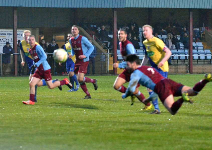 Deeping Rangers FC - second-half action v Wellingborough Town'Longer range pics - game over