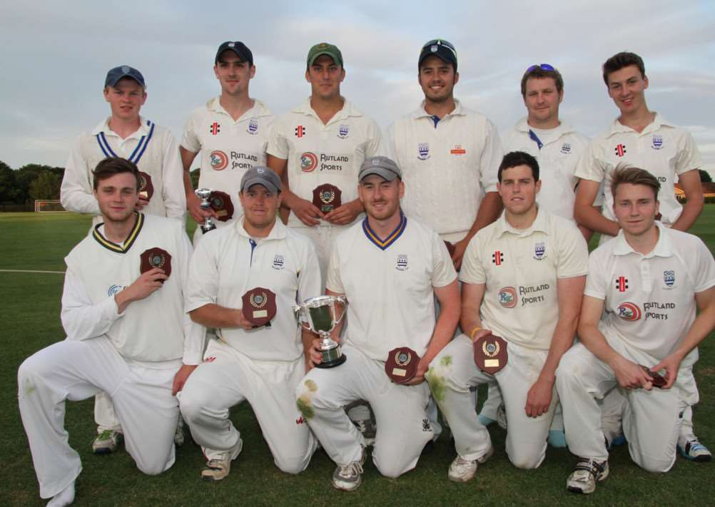 Bourne Cricket Club's Jaidka Cup winning team. Photo Ian Greenfield EMN-140630-152230001