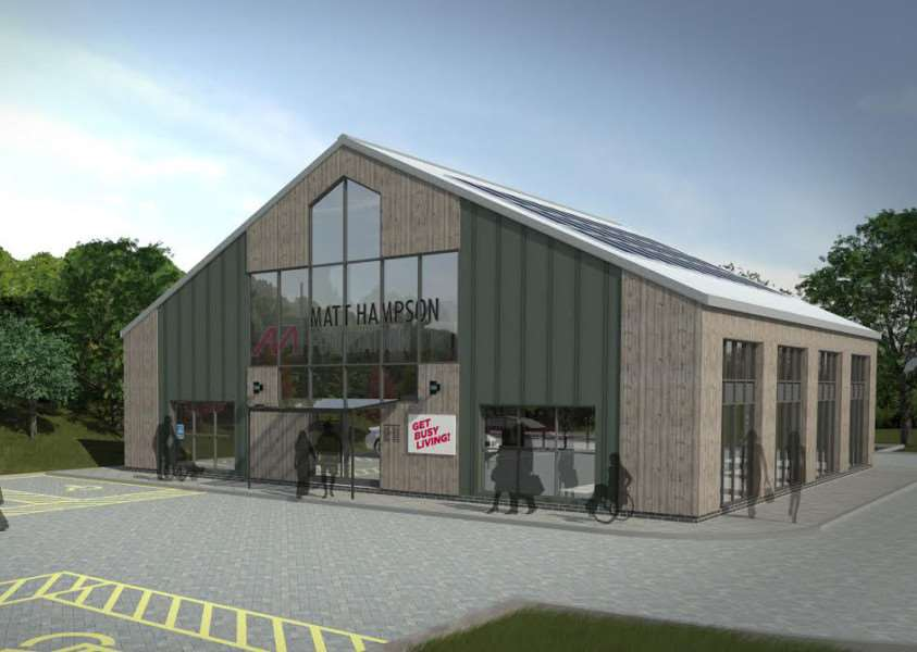 Artist's impression of the Get Busy Living centre for Burrough-on-the-Hill