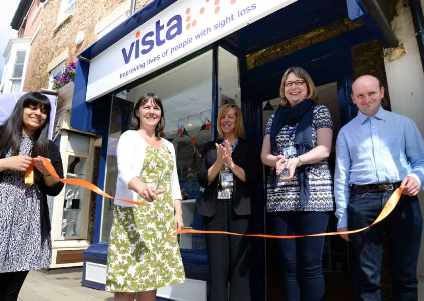 Opening of the new Vista shop in Oakham. Kate Maish (Director of Income generation), Clare Davidson (manager) and Sally Thomas (Retail Operations Mgr). Photo: Alan Walters MSMP-24-06-15-aw006 EMN-150307-095911001