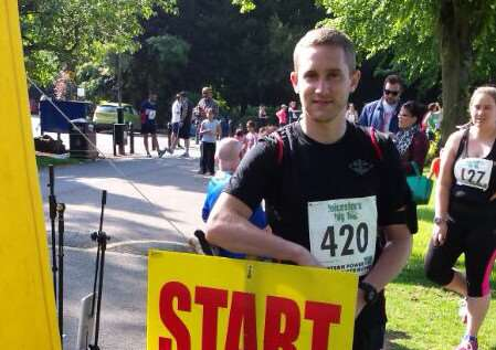 Barry Newman, 27, from St George's Barracks in North Luffenham, is running the Rat Race Dirty Weekend for Children with Cancer UK. EMN-150421-154359001