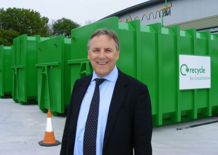 Coun Reg Shore, executive member for waste and recycling at Lincolnshire County Council.