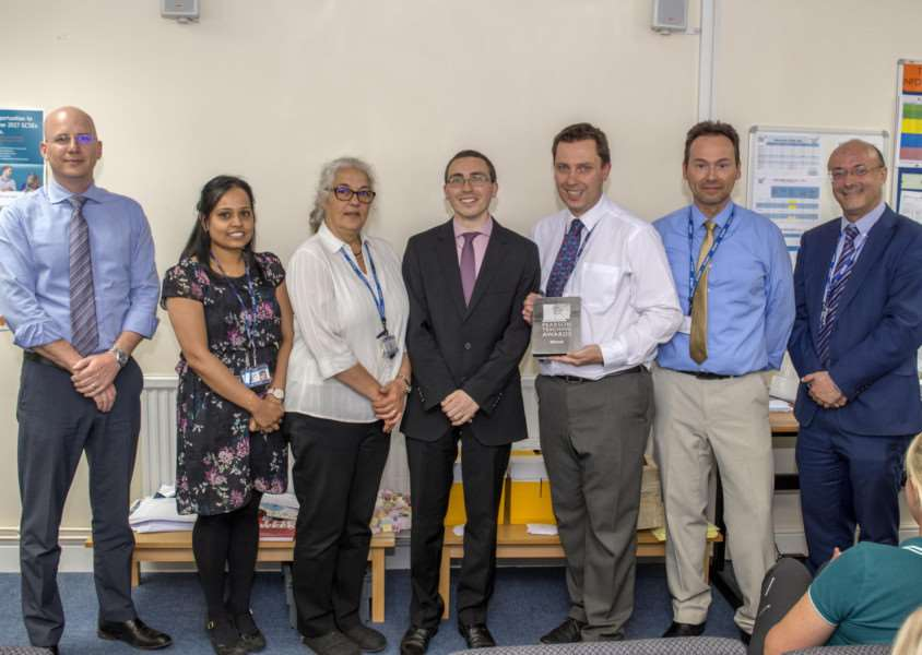 Mathematics department at Casterton Colleger Rutland win a Silver Teaching Award. By Lee Hellwing.
