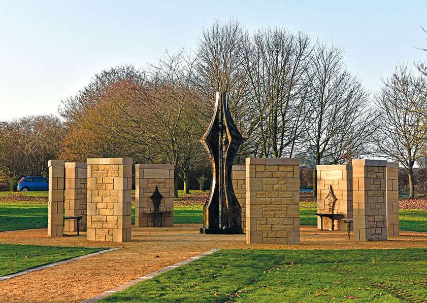 The new Lincolnshire Police memorial garden.