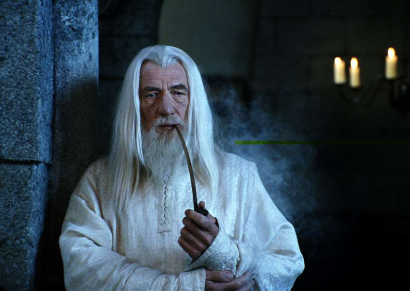 Ian McKellen as Gandalf in The Lord of the Rings: The Return of the King.