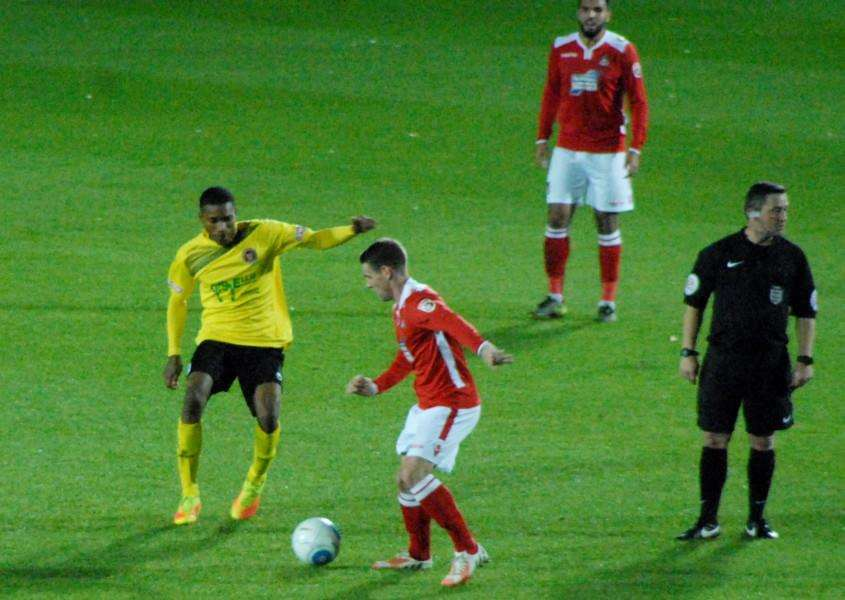 Action from Stamford AFC's replay victory away at Wrexham on Tuesday. Photo: John Evely EMN-161019-102018001